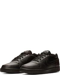 schwarze Leder niedrige Sneakers von Nike Sportswear