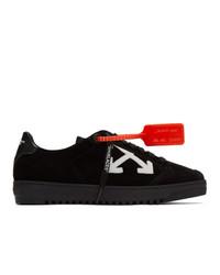 schwarze Leder niedrige Sneakers von Off-White