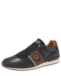 schwarze Leder niedrige Sneakers von Pantofola D'oro