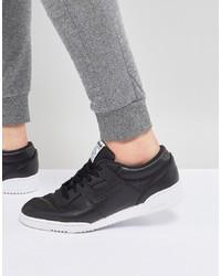 schwarze Leder niedrige Sneakers von Reebok
