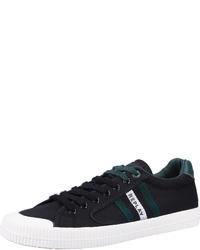 schwarze Leder niedrige Sneakers von Replay