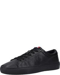 schwarze Leder niedrige Sneakers von S.OLIVER RED LABEL