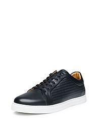 schwarze Leder niedrige Sneakers von SHOEPASSION