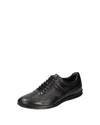 schwarze Leder niedrige Sneakers von Sioux