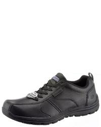 schwarze Leder niedrige Sneakers von Skechers