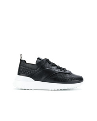schwarze Leder niedrige Sneakers von Tod's