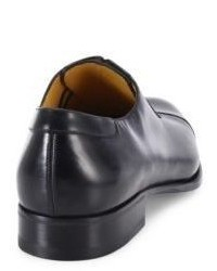Schwarze Leder Oxford Schuhe von a. testoni