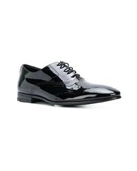 schwarze Leder Oxford Schuhe von Al Duca D'Aosta 1902