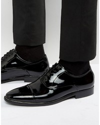 Schwarze Leder Oxford Schuhe von Aldo