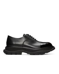 schwarze Leder Oxford Schuhe von Alexander McQueen