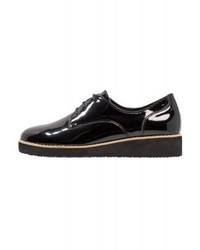 schwarze Leder Oxford Schuhe von Anna Field