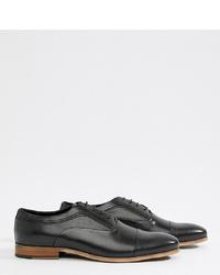 schwarze Leder Oxford Schuhe von ASOS DESIGN