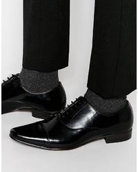 Schwarze Leder Oxford Schuhe von Asos
