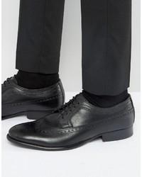 Schwarze Leder Oxford Schuhe von Base London