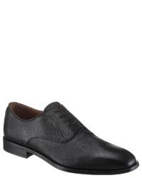 schwarze Leder Oxford Schuhe von BOSS