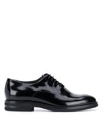 schwarze Leder Oxford Schuhe von Brunello Cucinelli