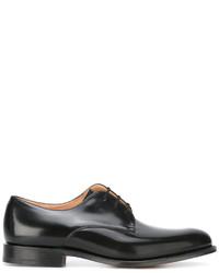schwarze Leder Oxford Schuhe von Church's