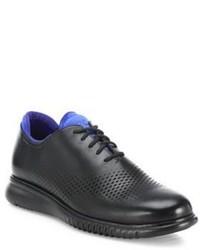 Schwarze Leder Oxford Schuhe von Cole Haan