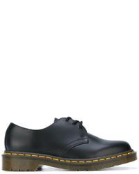 schwarze Leder Oxford Schuhe von Comme des Garcons