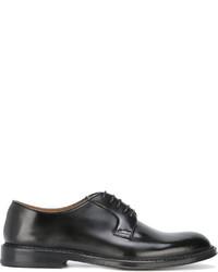 schwarze Leder Oxford Schuhe von Doucal's