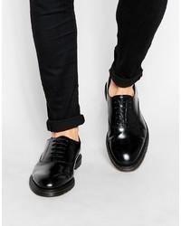 Schwarze Leder Oxford Schuhe von Dr. Martens