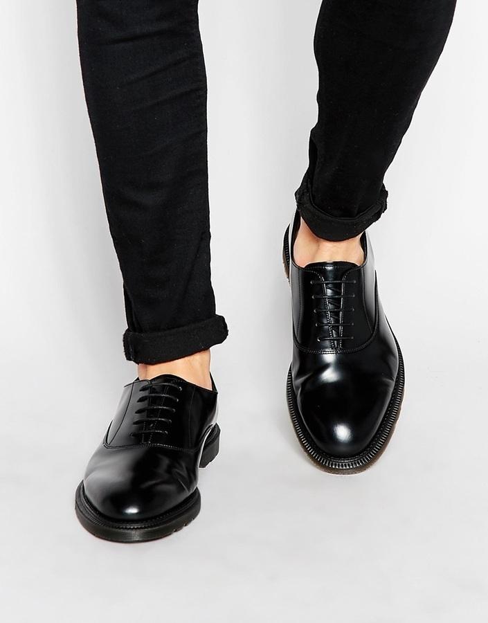 ... schwarze Leder Oxford Schuhe von Dr. Martens ... d39dfad52af9