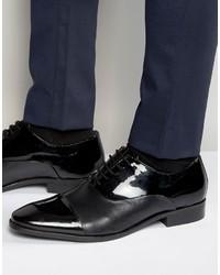 Schwarze Leder Oxford Schuhe von Dune