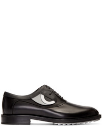 schwarze Leder Oxford Schuhe von Fendi