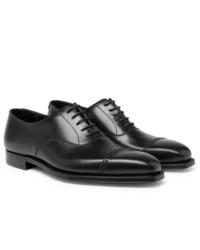 schwarze Leder Oxford Schuhe von George Cleverley