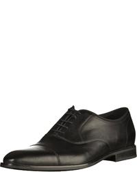 schwarze Leder Oxford Schuhe von Geox