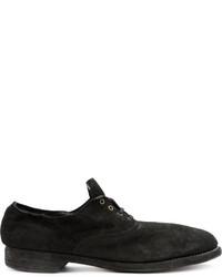 schwarze Leder Oxford Schuhe von Guidi