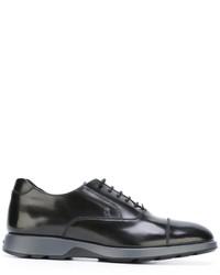 schwarze Leder Oxford Schuhe von Hogan