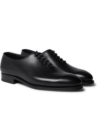 schwarze Leder Oxford Schuhe von J.M. Weston