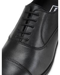 schwarze Leder Oxford Schuhe von Jack & Jones