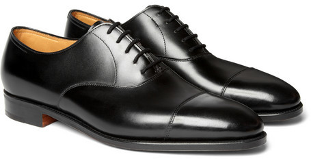 best sneakers 7cdf4 cc7f5 €1.054, schwarze Leder Oxford Schuhe von John Lobb