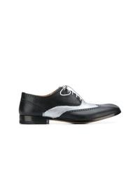 schwarze Leder Oxford Schuhe von Maison Margiela