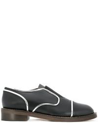 schwarze Leder Oxford Schuhe von Marni