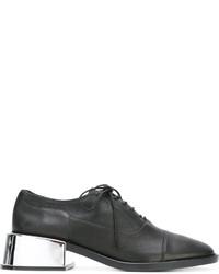schwarze Leder Oxford Schuhe von MM6 MAISON MARGIELA