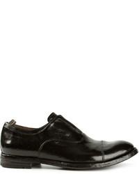 Schwarze Leder Oxford Schuhe von Officine Creative