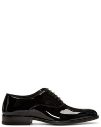 schwarze Leder Oxford Schuhe von Saint Laurent