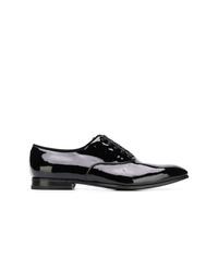 schwarze Leder Oxford Schuhe von Salvatore Ferragamo