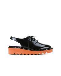 schwarze Leder Oxford Schuhe von Stella McCartney