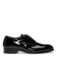 schwarze Leder Oxford Schuhe von Tiger of Sweden