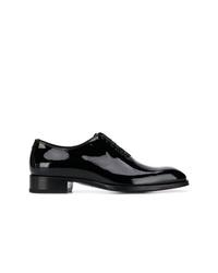 schwarze Leder Oxford Schuhe von Tom Ford