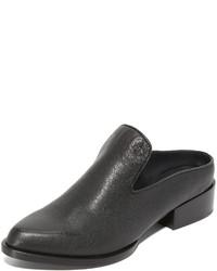 schwarze Leder Pantoletten von DKNY