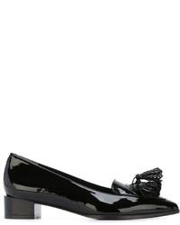 Schwarze Leder Pumps mit Quasten von Robert Clergerie