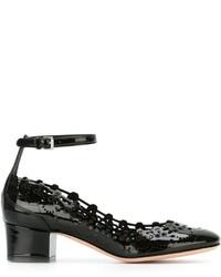 schwarze Leder Pumps von Alexander McQueen
