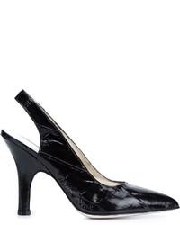schwarze Leder Pumps von Amélie Pichard