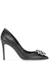 schwarze Leder Pumps von Dolce & Gabbana
