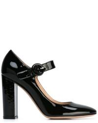 schwarze Leder Pumps von Gianvito Rossi